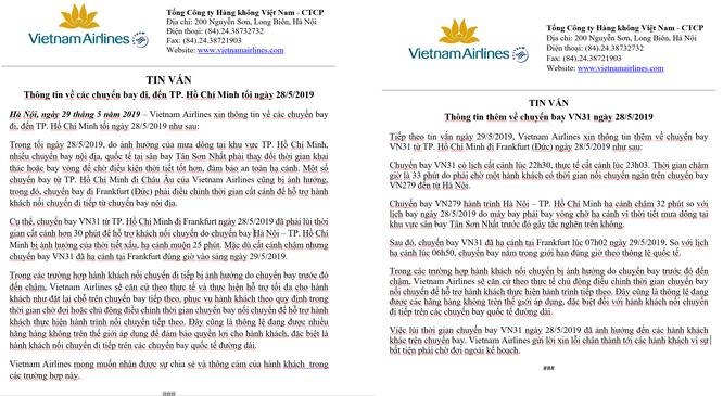 Vietnam Airlines chính thức xin lỗi hơn 200 hành khách trên chuyến bay VN31 ảnh 2