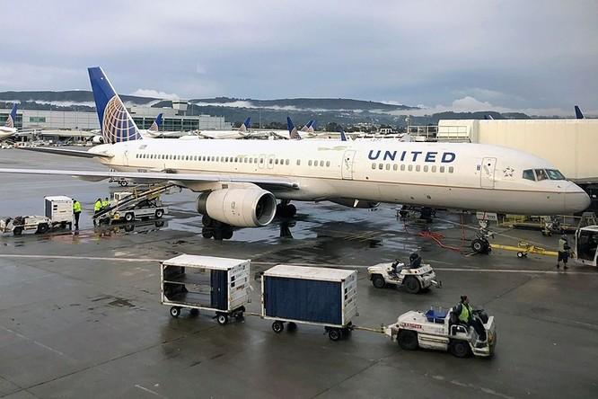Máy bay củaUnited Airlines tại Sân bay quốc tế San Francisco. Ảnh: AP