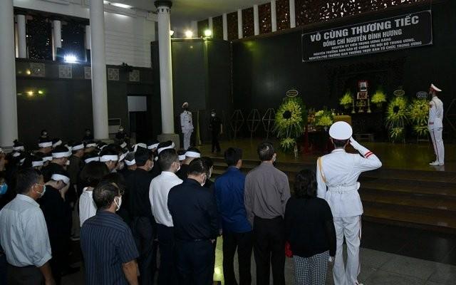 Cử hành trọng thể lễ tang đồng chí Nguyễn Đình Hương ảnh 10