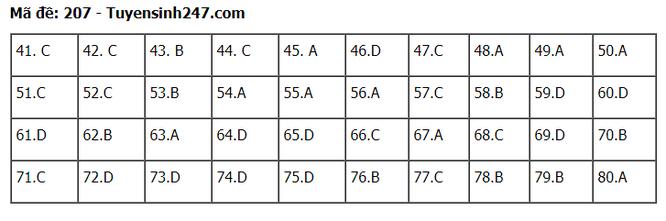 Tra cứu online đáp án đề thi tốt nghiệp THPT 2020 môn Hóa học mã đề 207 ảnh 2