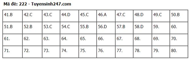 Tra cứu online đáp án đề thi tốt nghiệp THPT 2020 môn Hóa học mã đề 222 ảnh 2