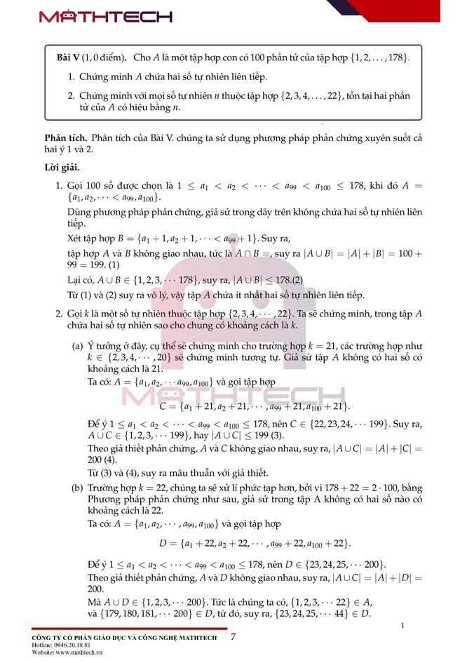 Đáp án đề thi Toán chuyên vào lớp 10 tại Hà Nội năm học 2021 ảnh 8