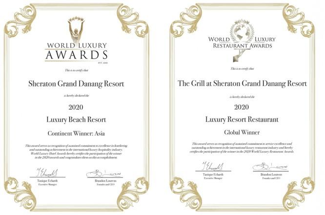 Khu Nghỉ Dưỡng Sheraton Grand Resort Đà Nẵng nhận giải thưởng World Luxury Hotel Awards 2020 ảnh 2