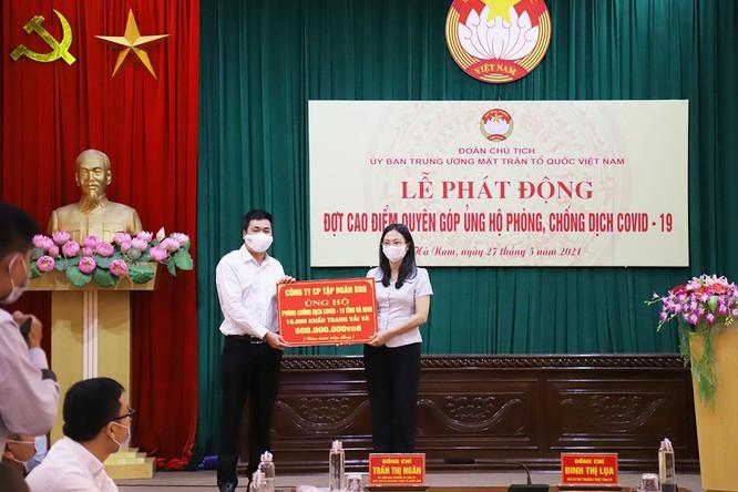 Tập đoàn BRG ủng hộ 1 tỷ đồng và 20.000 khẩu trang cho tỉnh Hà Nam, Bắc Giang để chống dịch Covid-19 ảnh 1