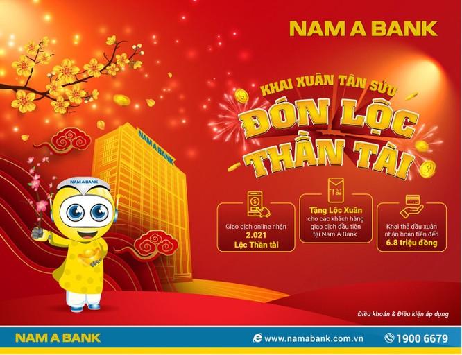 Nam A Bank tặng lộc xuân cho khách hàng giao dịch đầu năm ảnh 1