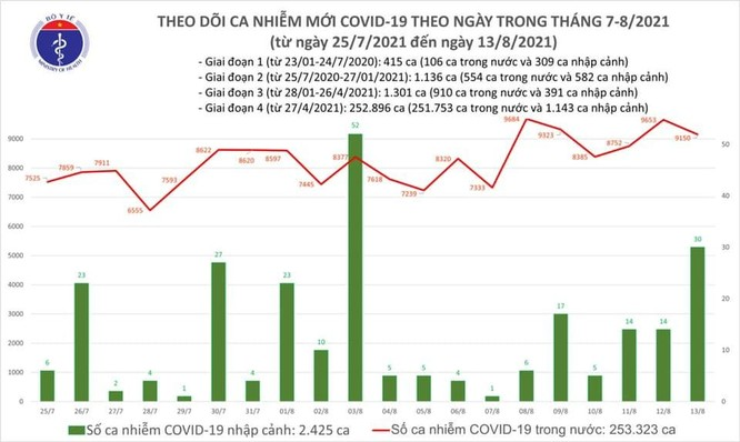 Bản tin COVID-19 tối 13/8: Hơn 9.000 ca nhiễm mới, thêm 3.593 bệnh nhân khỏi bệnh ảnh 1
