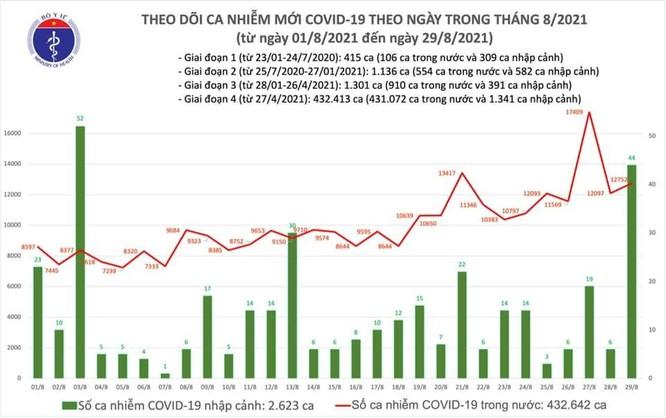 Tin COVID-19 hôm nay 29/8: Thêm 12.796 ca nhiễm, chủ yếu tại TP.HCM và Bình Dương ảnh 1