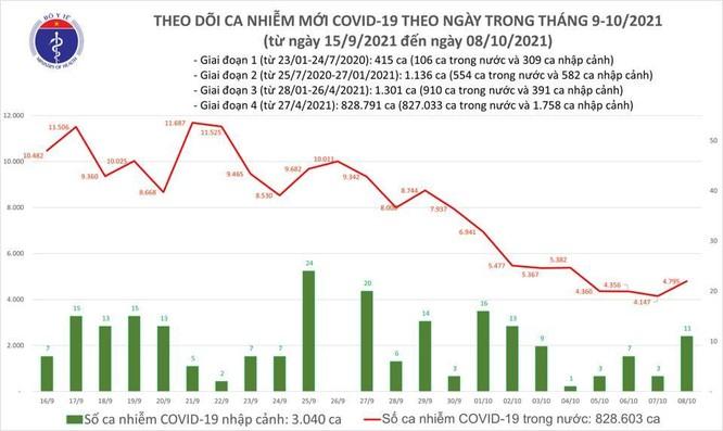 Tin COVID-19 ngày 08/10: Cả nước thêm 4.784 ca nhiễm mới, riêng TP.HCM 2.215 ca, Bình Dương 828 ca ảnh 1