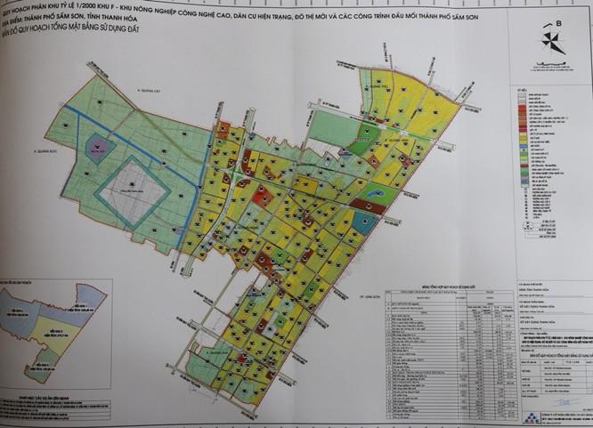 Bản đồ quy hoạch khu F tỷ lệ 1/2000 TP. Sầm Sơn (Nguồn: thanhhoa.gov.vn)