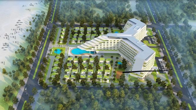 Phối cảnh dự án Tổ hợp thương mại và dịch vụ khách sạn Nghỉ dưỡng Việt Mỹ A&V tại Phú Yên (Nguồn: Việt Mỹ Group)