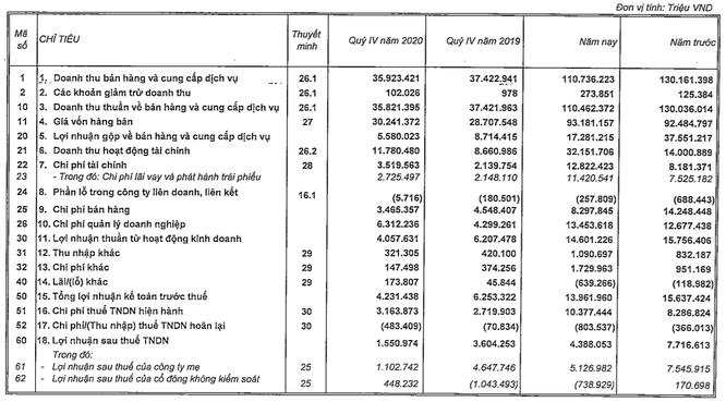 Vingroup lãi trước thuế 14.000 tỉ đồng năm 2020, bán ra 31.500 xe ô tô VinFast ảnh 1