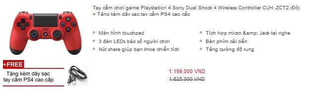 Giá một chiếc DualShock 4 rơi vào khoảng 1 triệu đồng