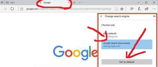 Thay công cụ tìm kiếm của Microsoft Edge - ảnh bởi Matt Elliott/CNET