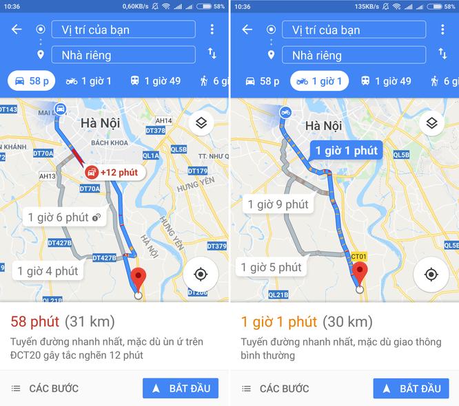 Google Maps Việt Nam có thêm tính năng chỉ đường cho xe hai bánh ảnh 1