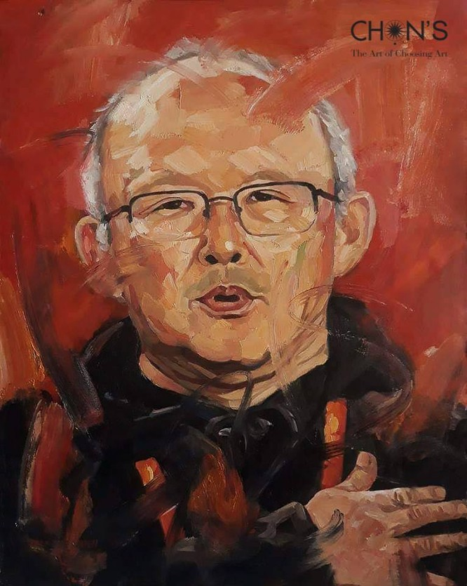 Bức tranh vẽ ông Park Hang-Seo bán 10.500 USD ảnh 1