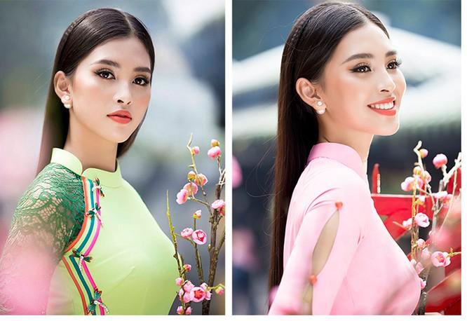 Hoa hậu Tiểu Vy khoe sắc xuân trong áo dài Ngô Nhật Huy