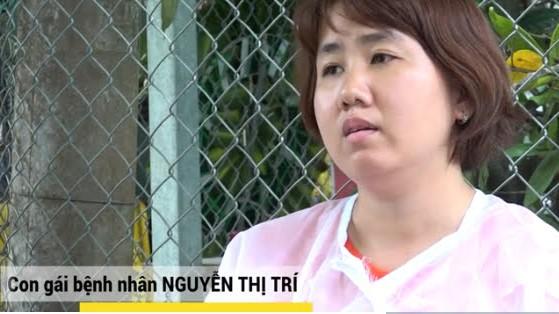 Con gái bệnh nhân Nguyễn Thị Trí
