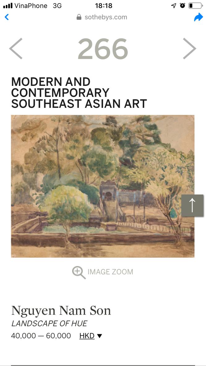 """Bức """"Phong cảnh Huế trên trang Sotheby's"""