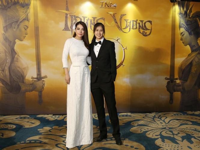 Trương Ngọc Ánh và Janet Ngô tại buổi công bố dự án phim