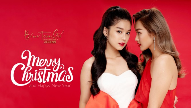 Hoàng Yến Chibi, Khả Ngân và Quốc Anh đỏ rực quyến rũ mùa Noel ảnh 5