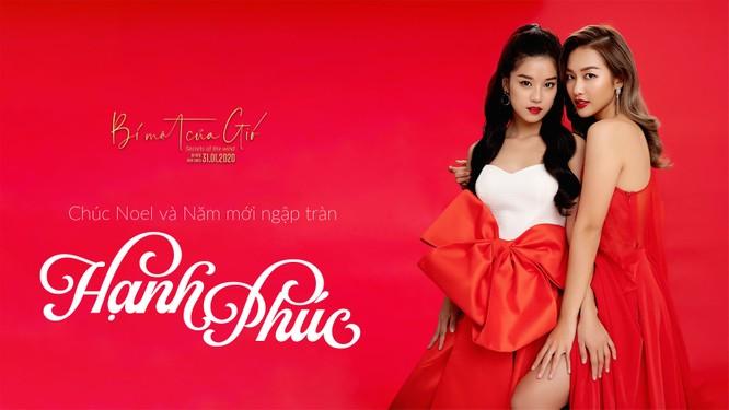 Hoàng Yến Chibi, Khả Ngân và Quốc Anh đỏ rực quyến rũ mùa Noel ảnh 6