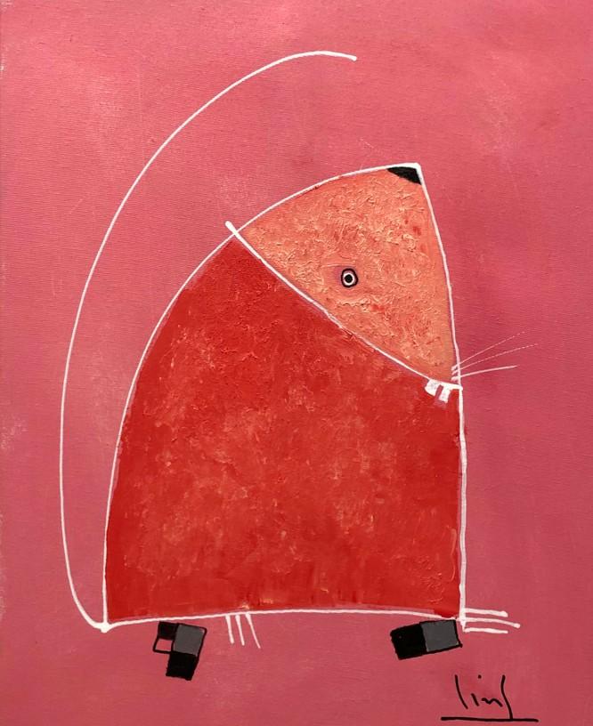 Tranh chuột Tết Canh Tý của họa sĩ Tào Linh