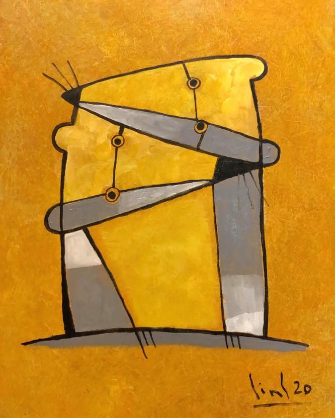 Tranh chuột của họa sĩ Tào Linh với màu sắc ấm áp