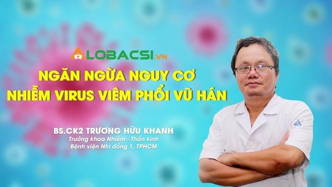BS Trương Hữu Khanh, Trưởng khoa Nhiễm, Thần kinh, BV Nhi Đồng 1 (Ảnh: Alobacsi)