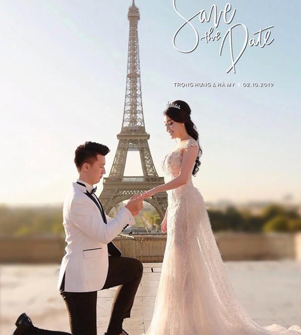 Trọng Hưng và vợ cũ trong ảnh cưới (Ảnh: FBNV)