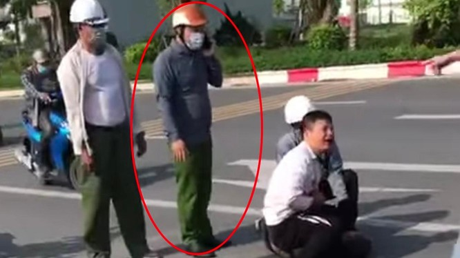 Đại uý Công an vô cảm để lái xe taxi vật lộn với tên cướp bị kỷ luật ảnh 1
