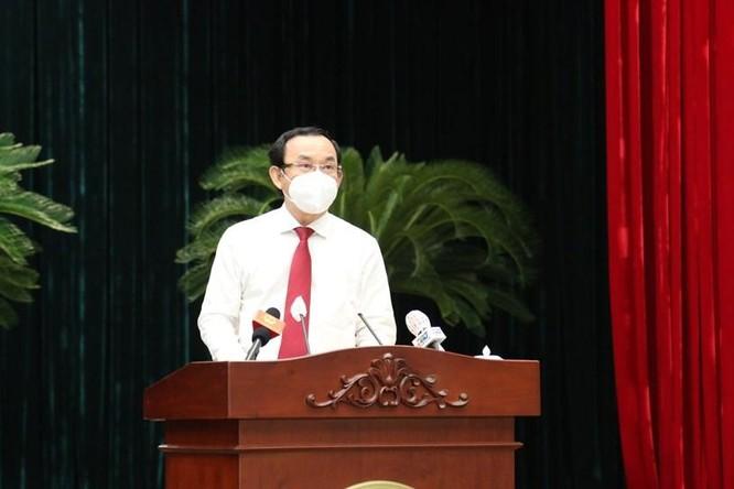 Tân chủ tịch TP.HCM Phan Văn Mãi cam kết kiểm soát dịch bệnh ở TP.HCM ảnh 1