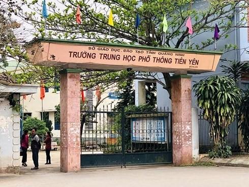 THPT Tiên Yên nơi xảy ra vụ việc