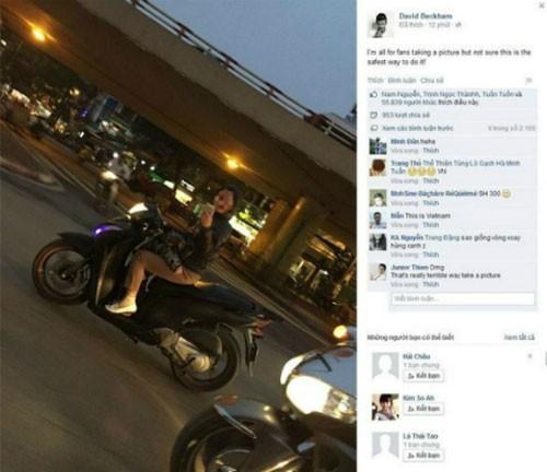 """Đèo con bằng xe máy, mẹ tranh thủ chụp ảnh """"tự sướng"""" ảnh 1"""