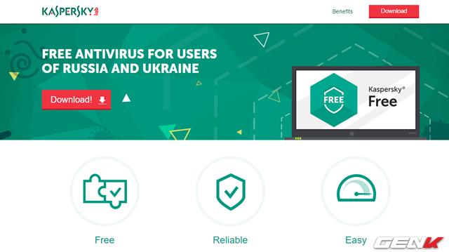 Kaspersky ra mắt phần mềm diệt virus miễn phí hoàn toàn ảnh 1