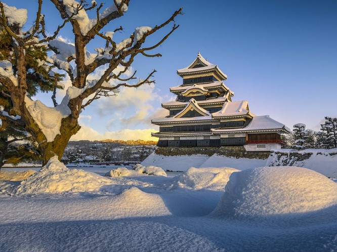 Ngắm những lâu đài bạc đầu trong tuyết ảnh 1