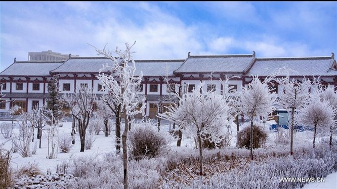 Băng tuyết phủ trắng các danh thắng ở Trung Quốc ảnh 8