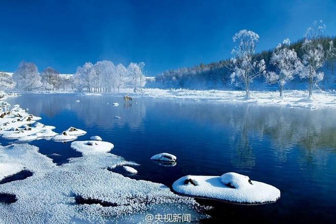 Băng tuyết phủ trắng các danh thắng ở Trung Quốc ảnh 10