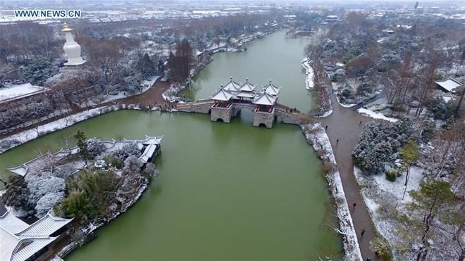 Băng tuyết phủ trắng các danh thắng ở Trung Quốc ảnh 14