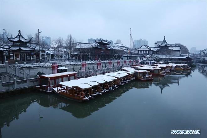 Băng tuyết phủ trắng các danh thắng ở Trung Quốc ảnh 3