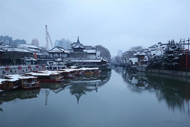 Băng tuyết phủ trắng các danh thắng ở Trung Quốc ảnh 4