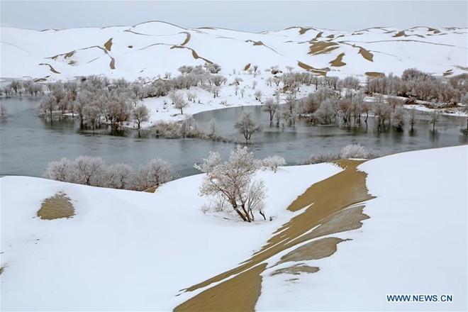 Băng tuyết phủ trắng các danh thắng ở Trung Quốc ảnh 6