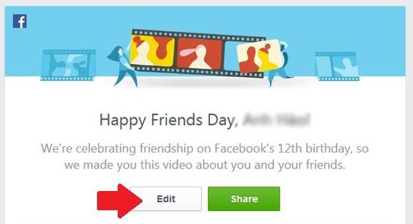 Mách bạn 5 bước làm video Tình bạn trên Facebook ảnh 1