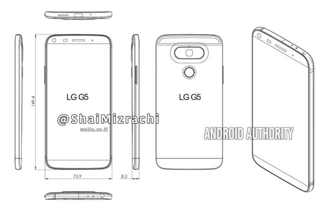 Cận cảnh LG G5 qua thông tin rò rỉ ảnh 2