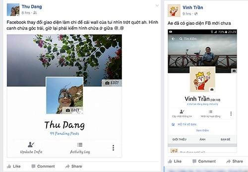 Facebook cập nhật: Ảnh đại diện nằm giữa trang ảnh 1
