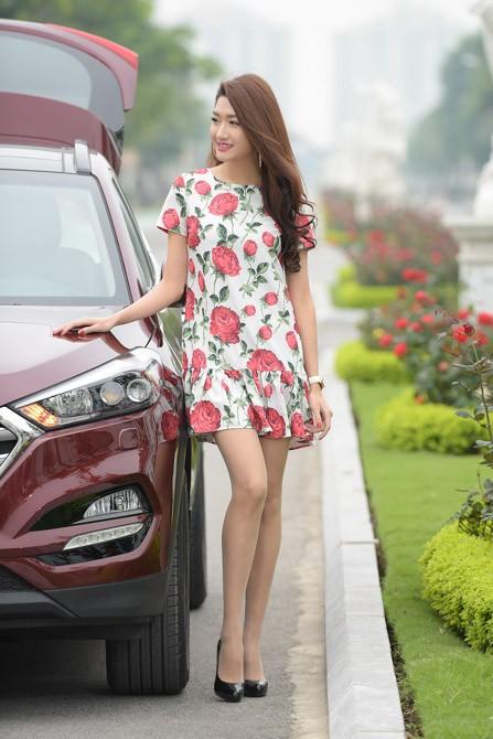 """Người đẹp """"đọ dáng"""" cùng Hyundai Tucson 2016 ảnh 7"""