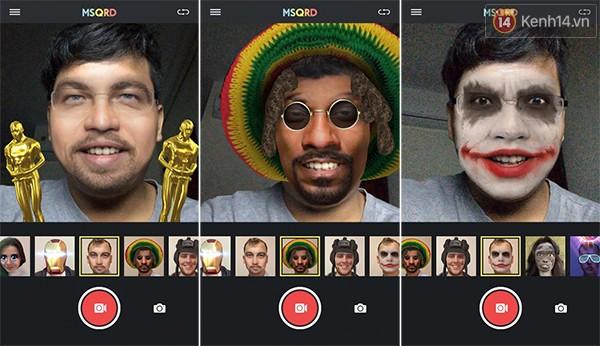 Cười ngất với ứng dụng selfie thực tế ảo MSQRD ảnh 1