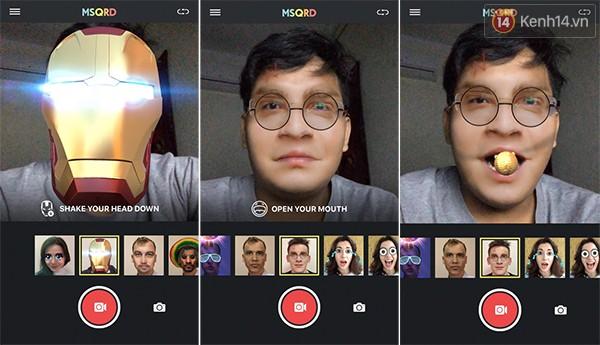 Cười ngất với ứng dụng selfie thực tế ảo MSQRD ảnh 2