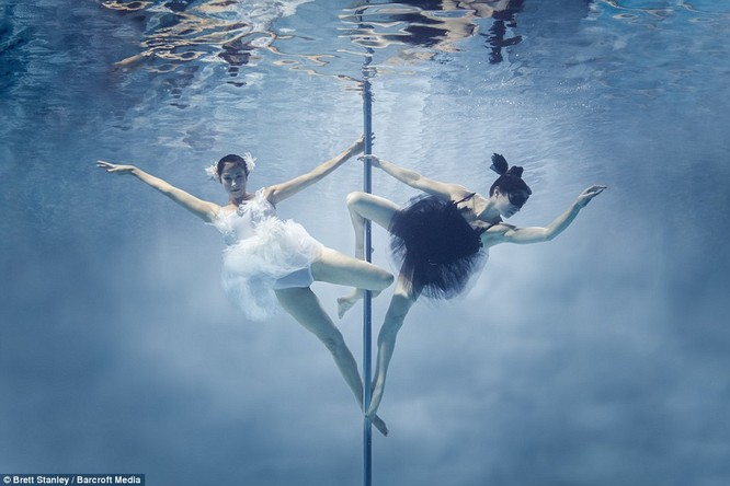 Mãn nhãn ngắm mỹ nhân múa cột dưới nước ảnh 21