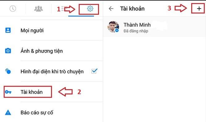 Cách đăng nhập nhiều tài khoản trên Facebook Messenger ảnh 1