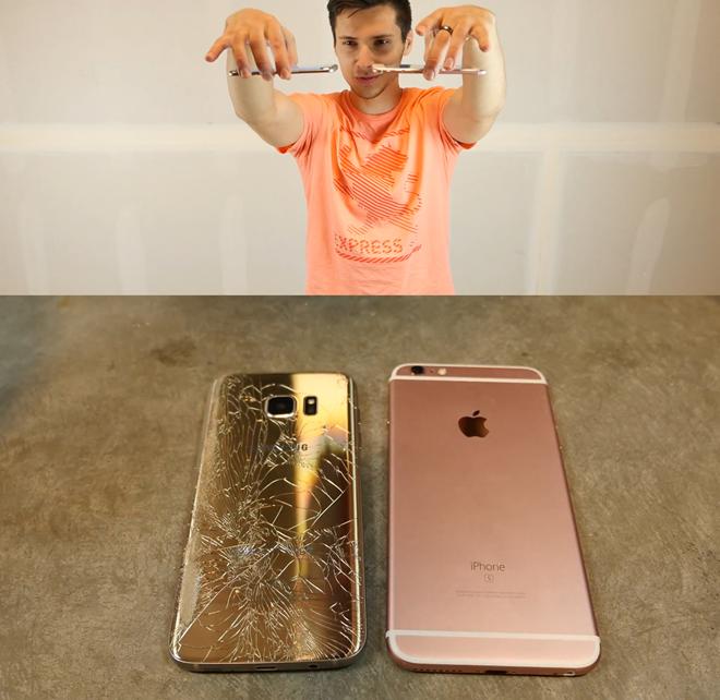 Video: Galaxy S7 edge so độ bền với iPhone 6S Plus ảnh 2